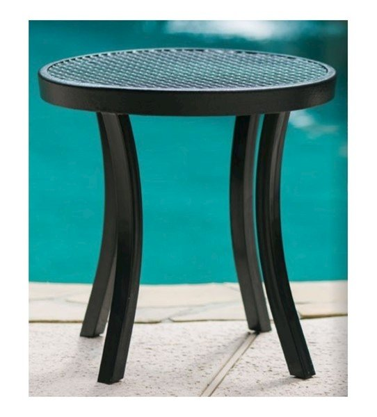 round plastic coated metal patio side table 20 or 24 furniture leisure