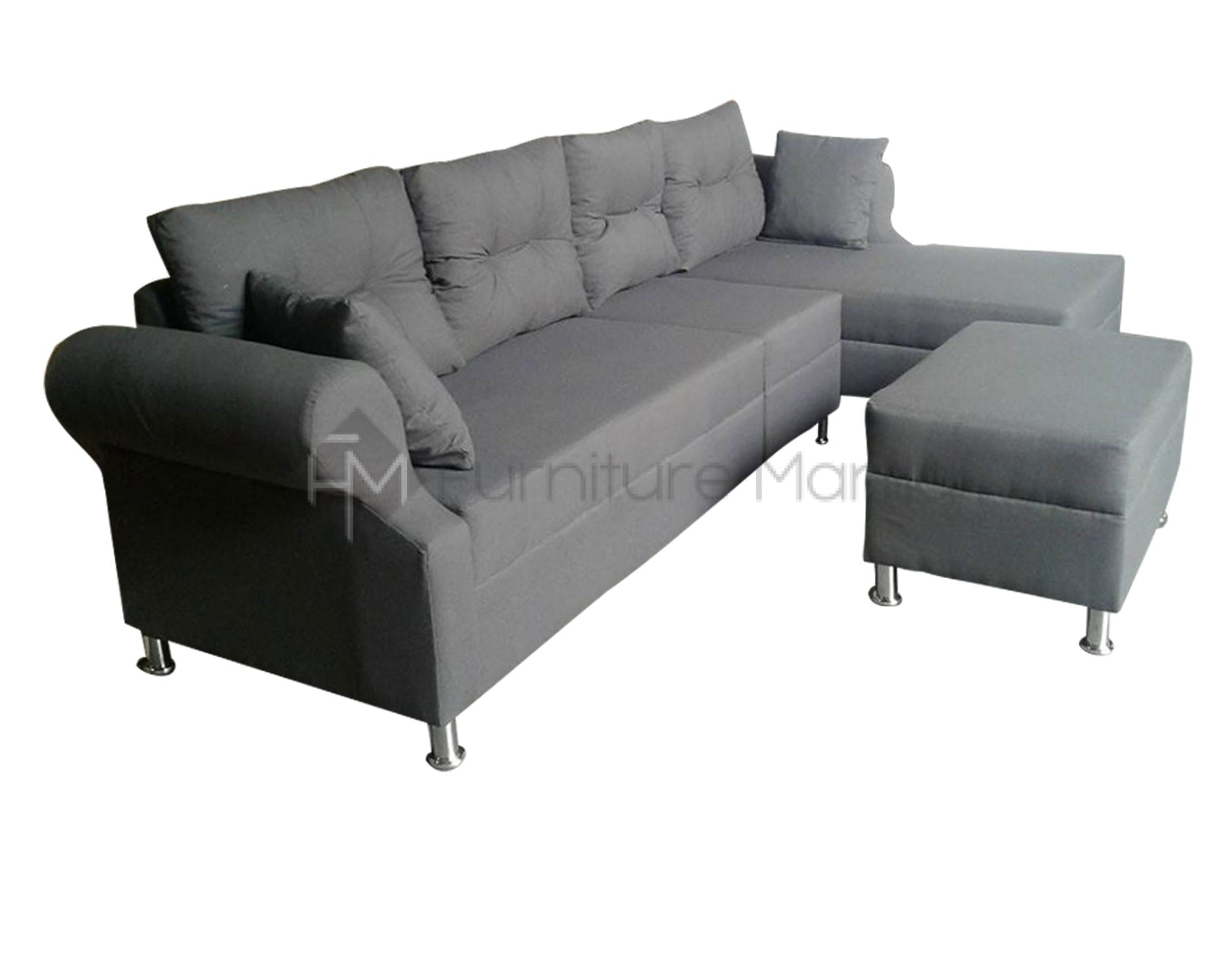 l shaped sofa for office slipcovers beds ariane with stool home and furniture
