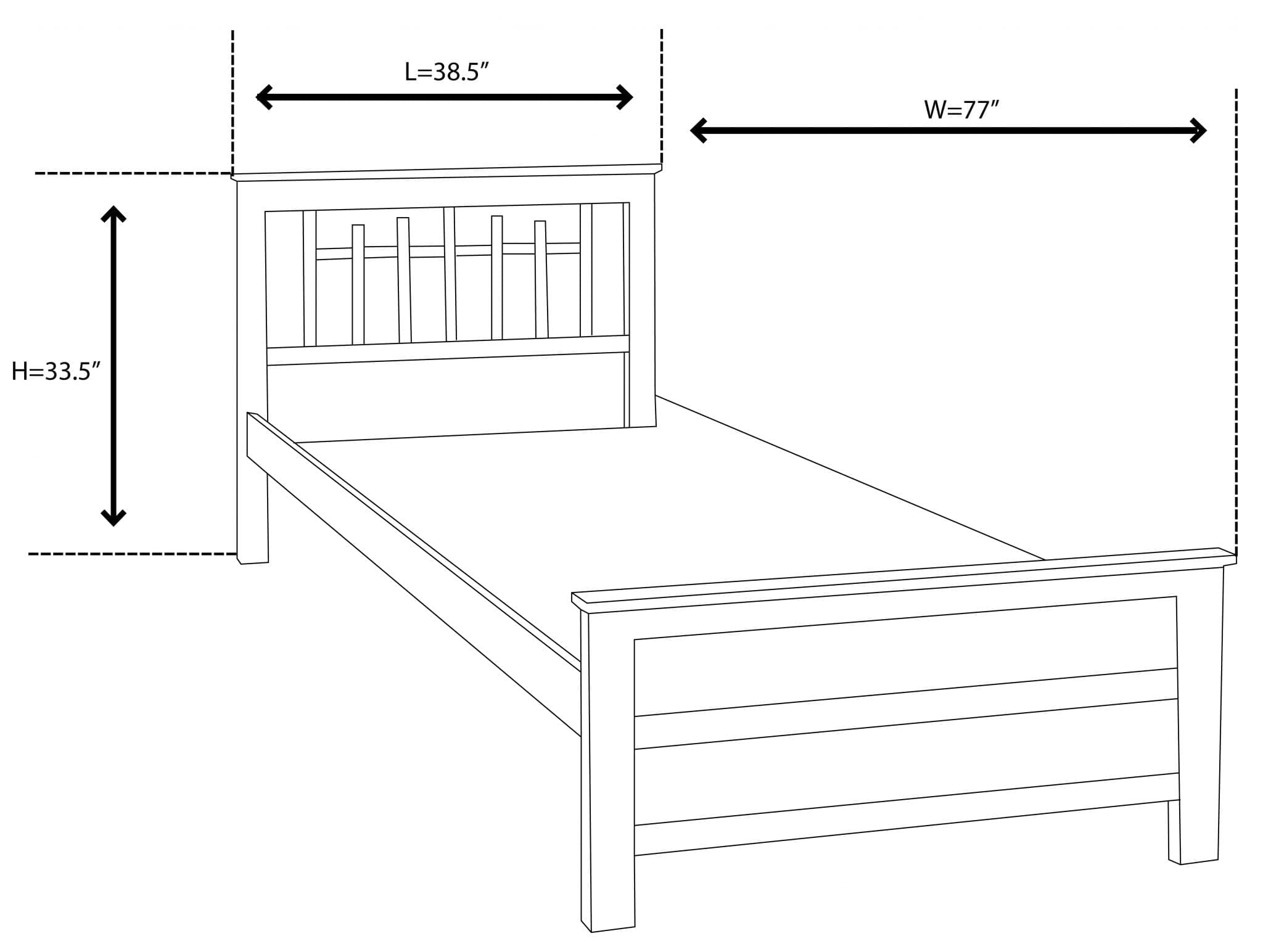 Barstow Single Bed Dimension