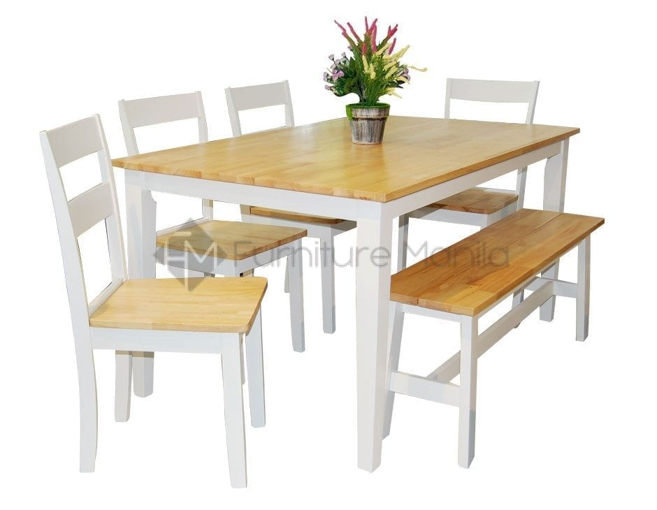 kitchen table set with bench ticket printer new york dining home office furniture philippines