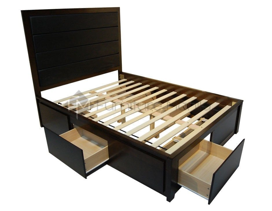 RHYS WOODEN BED FRAME WITH DRAWERS