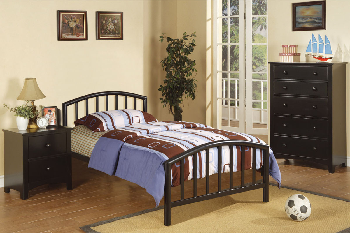 Twin Metal Bed F9018  Furniture Mattress Los Angeles and El Monte
