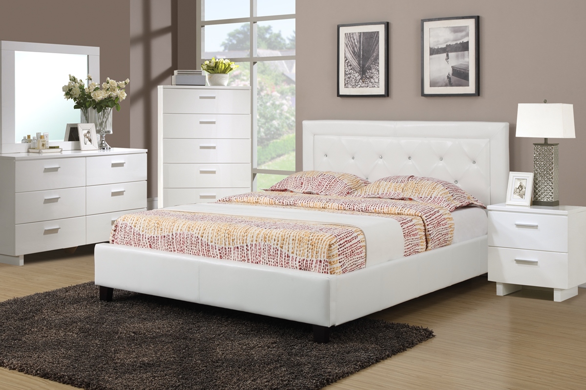F9247 Queen Bed Frame Furniture Mattress Los Angeles And