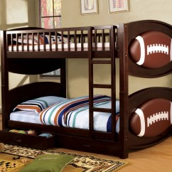 Sofa Bed With Storage Box Conversational Sofas Foa Furniture Of America Football Twin/twin Bunk ...
