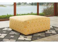 Ashley Ayanna Nuvella Yellow Oversized Accent Ottoman ...