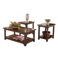 Ashley Murphy 3pc Medium Brown Coffee Table Set Dallas TX ...