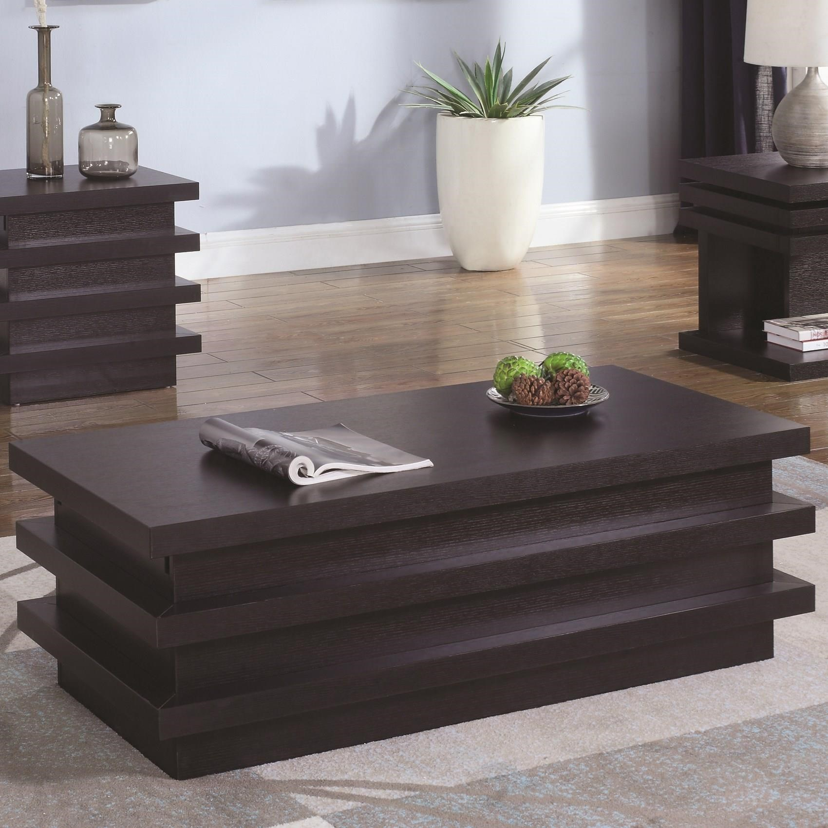 coaster fine furniture cappuccino rectangular console and sofa table best pillows for brown leather florence coffee dallas tx