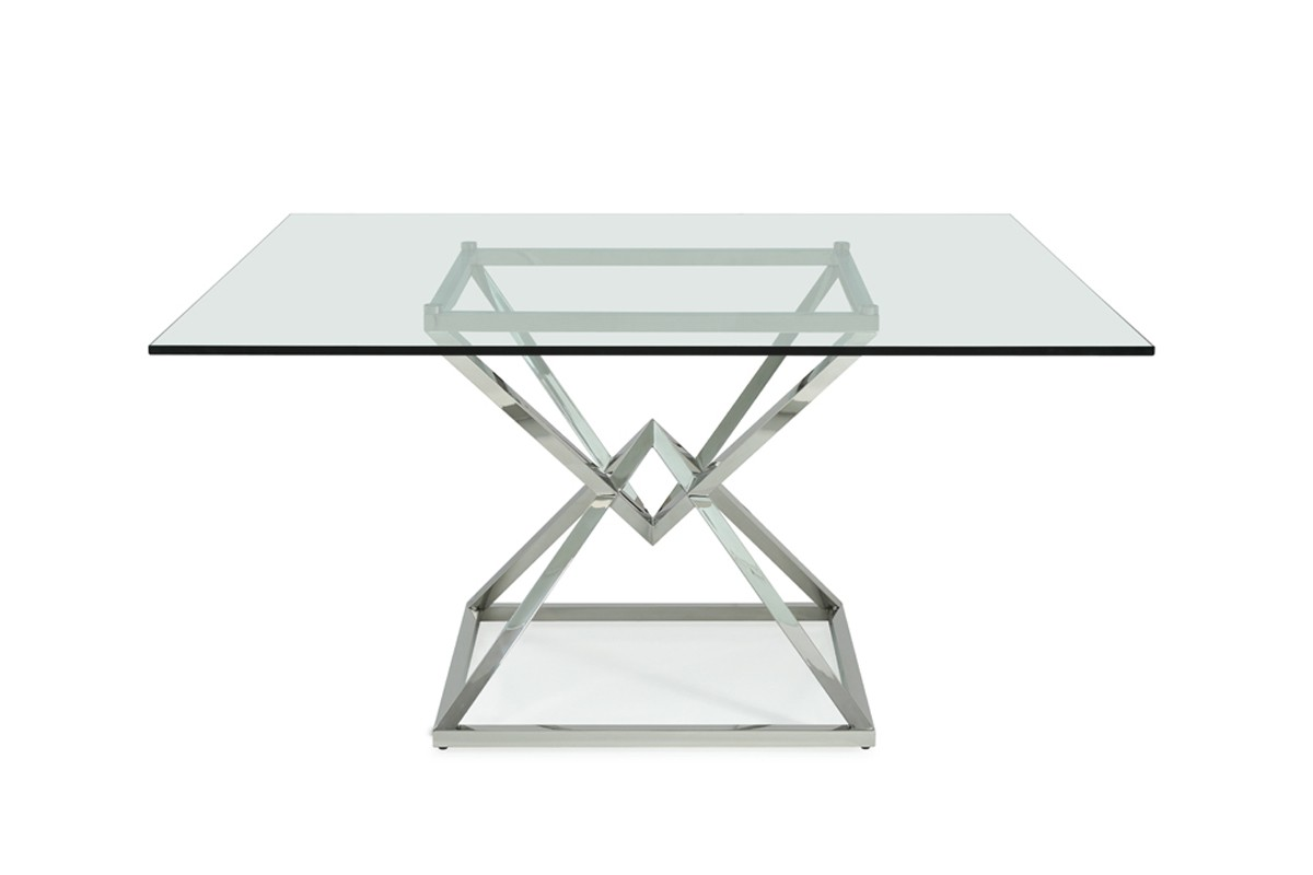 vig xander square glass dining table