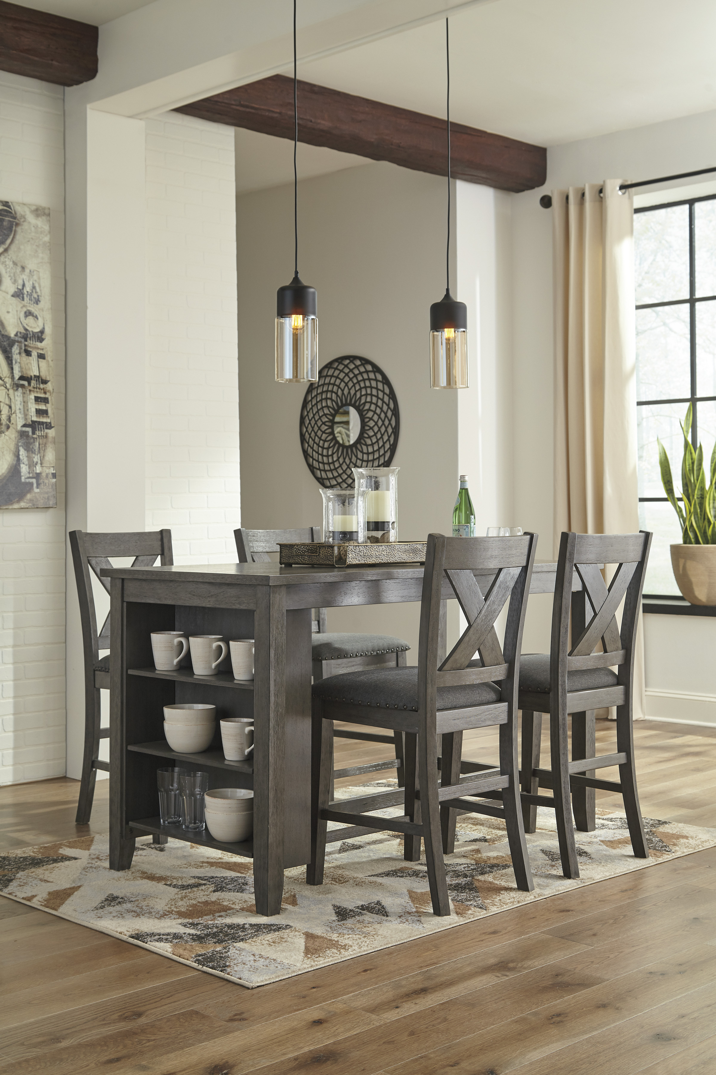 Ashley Caitbrook 5pc Counter Height Dining Room Set Dallas Tx Dining Room Sets Furniture Nation
