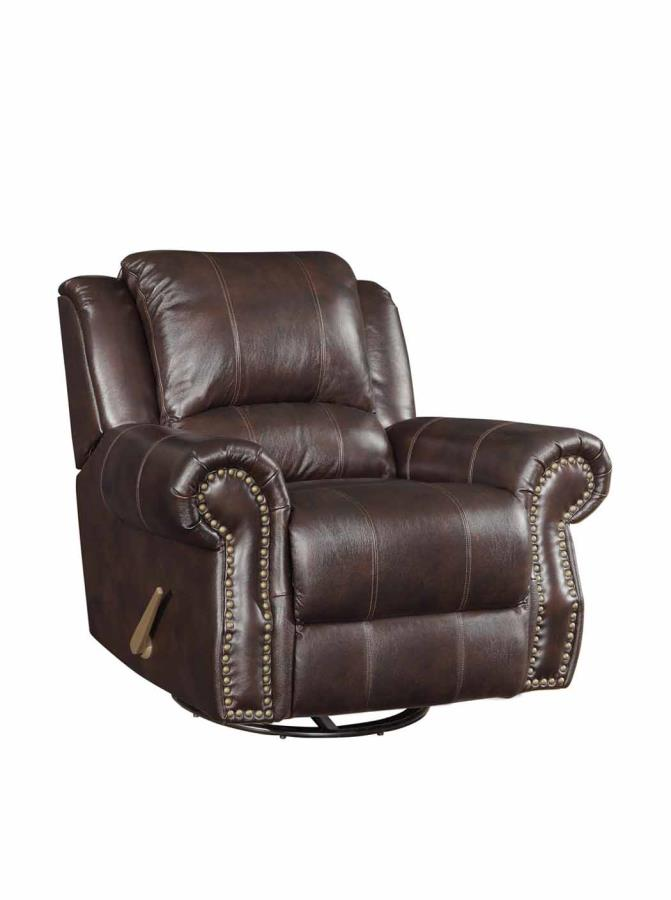 living room furniture dallas tx suits coaster sir rawlinson leather swivel/rocker recliner ...