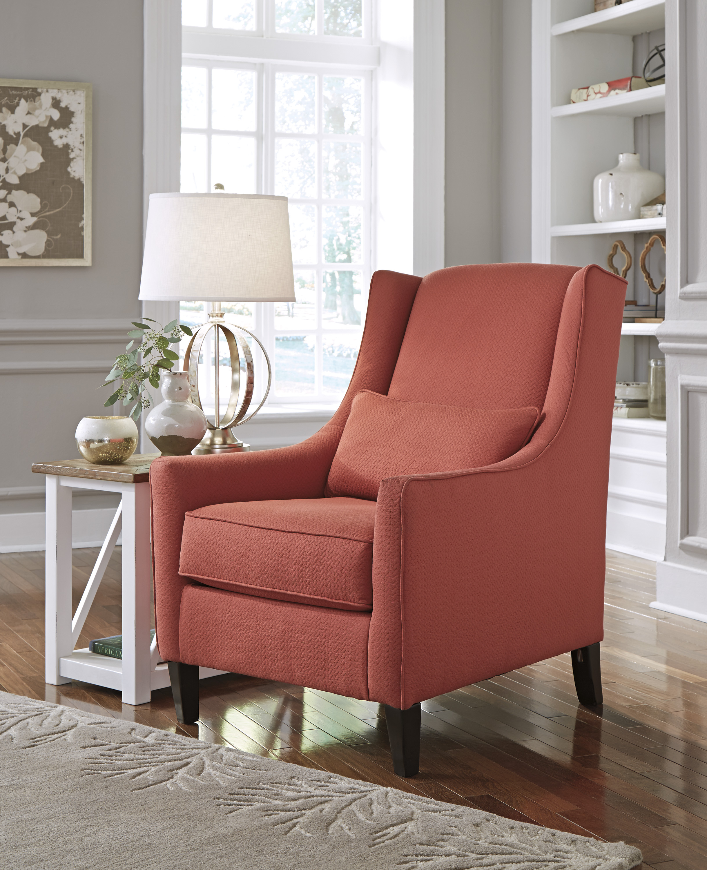 accent chairs living room best executive desk chair ashley sansimeon red dallas tx