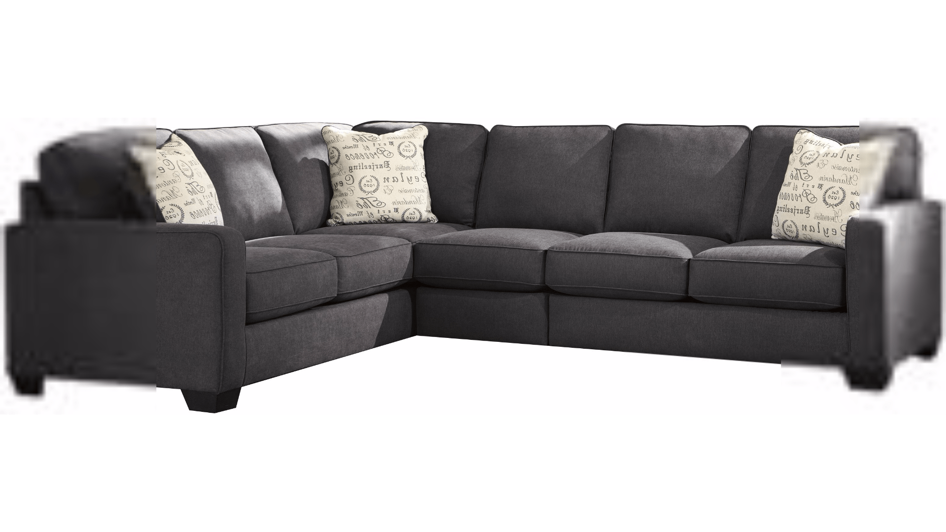 left arm sofa sectional surefit covers uk ashley alenya 3pc facing dallas tx