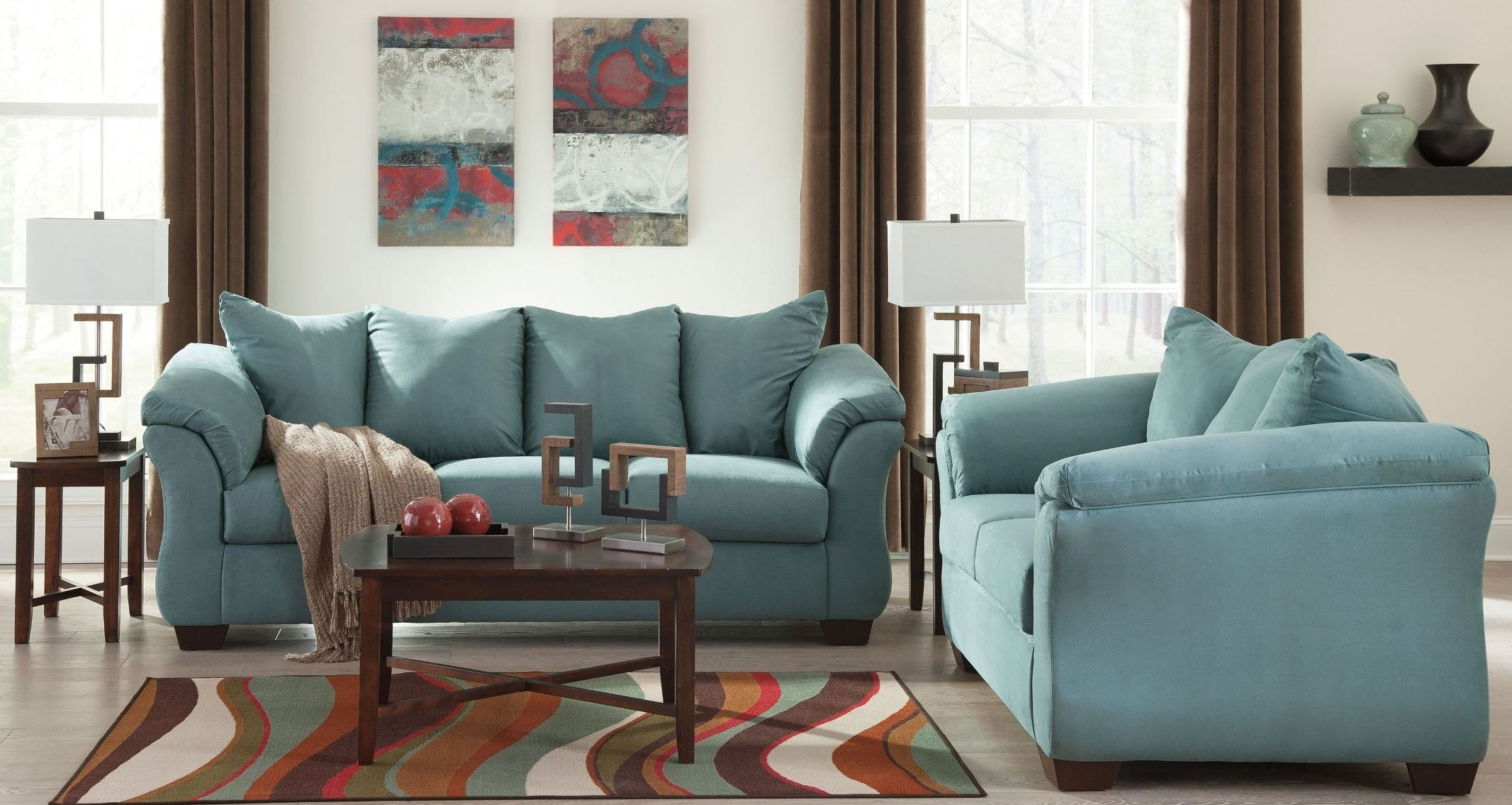 ashley darcy sofa clearance sofas online 2pc and loveseat set dallas tx living
