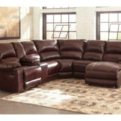 Right Arm Facing Sofa Left Chaise Daybed Sofas Ashley Macgrath Durablend 6pc Mahogany