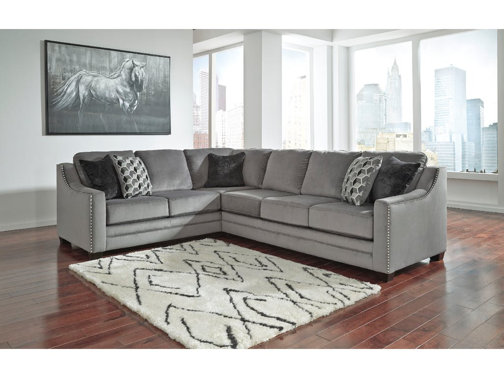 sectional sofa corner wedge cushion ideas for light grey ashley bicknell 2pc left arm facing with