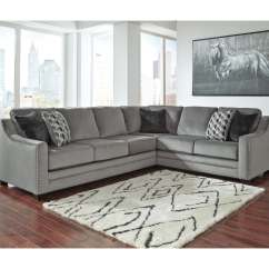 Sectional Sofa Corner Wedge Brown Leather Recliner Ashley Bicknell 2pc Right Arm Facing With