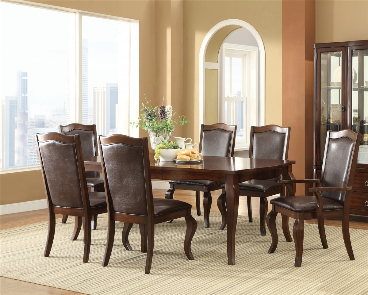 espresso dining chair covers sizes coaster louanna 7pc table set dallas tx