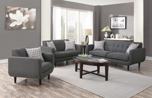 grey living room set yellow and black ideas coaster stansall 2pc sofa loveseat dallas tx available online in fort worth texas