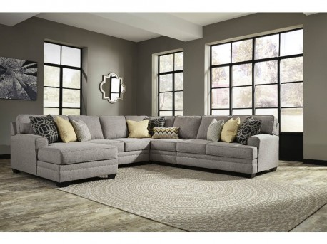 ashley cresson 5pc left arm facing chaise sectional