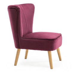 Purple Accent Chairs Sale Bedroom Chair Lydia In Velvet
