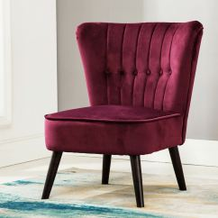 Purple Accent Chairs Sale Metal Folding Chair Eline In Velvet