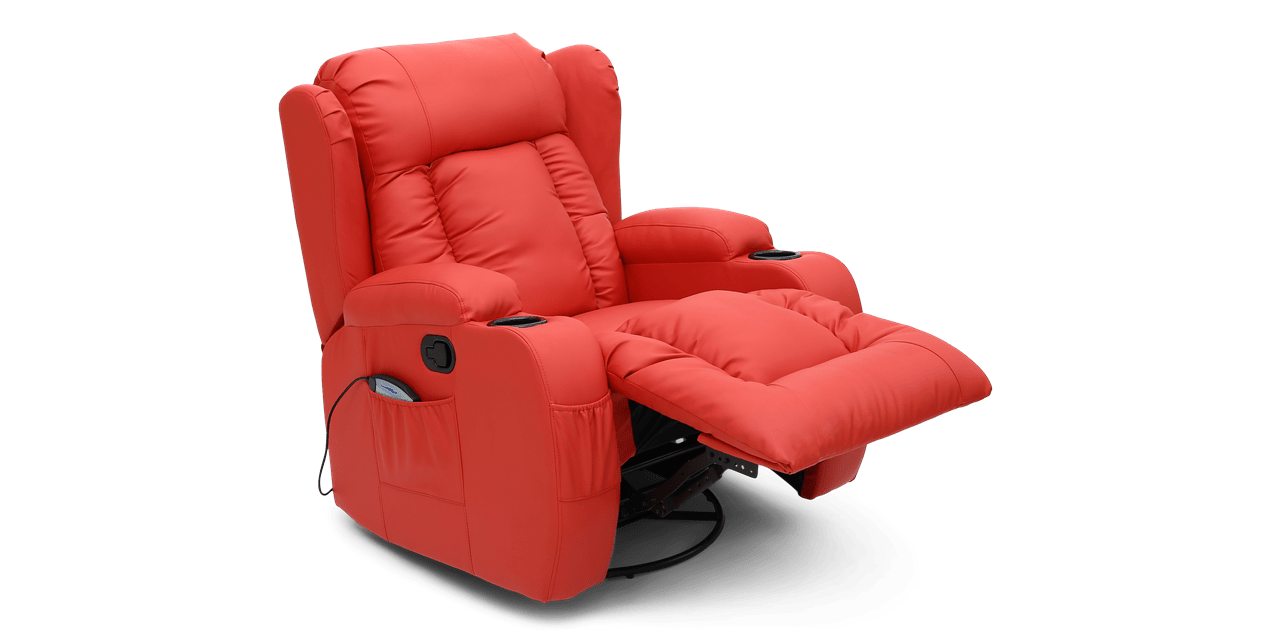 red recliner chairs chair stool height rockingham swival with massage and heat in swivel img