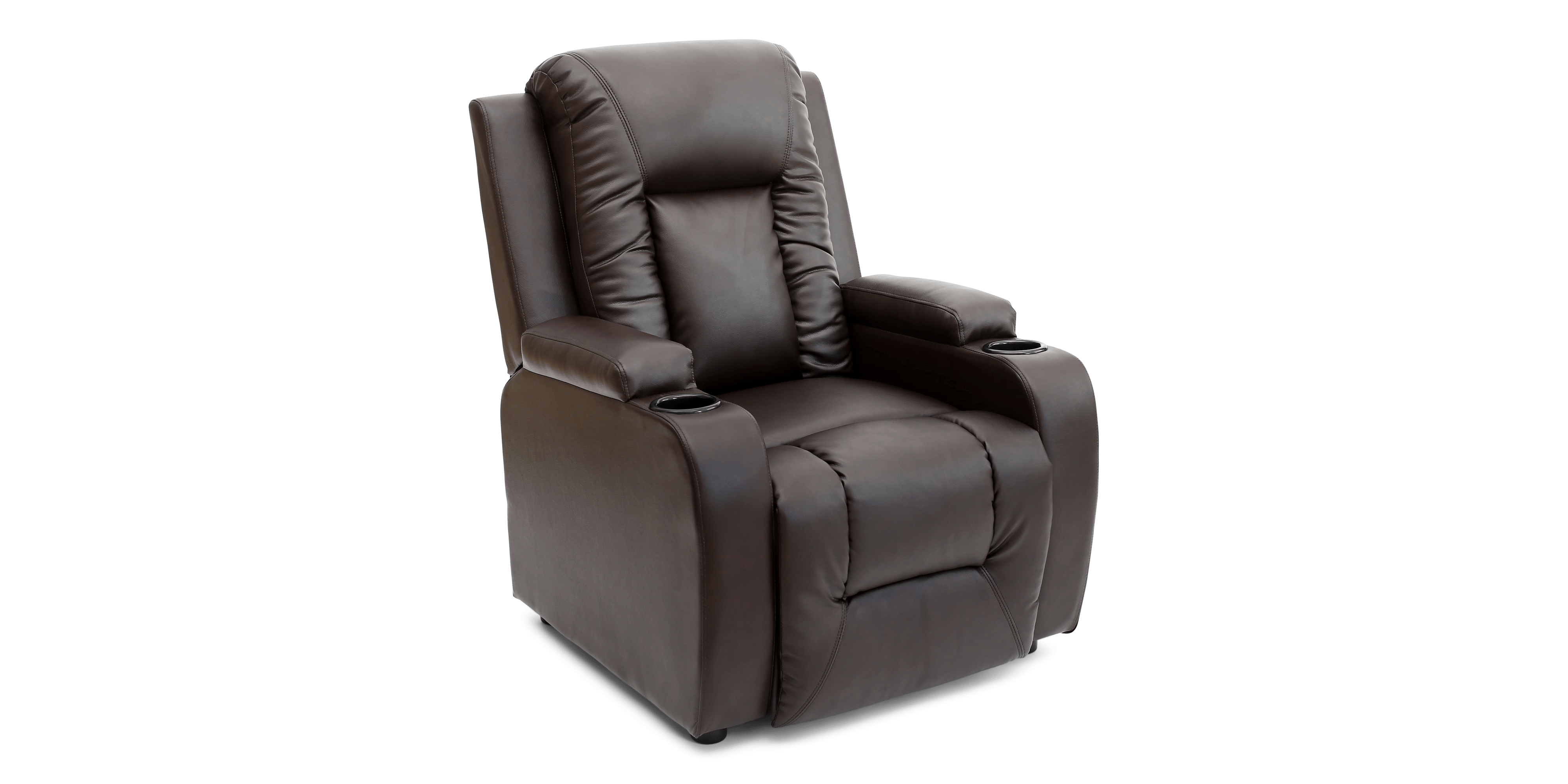 push back chair blue folding covers cameron recliner in brown