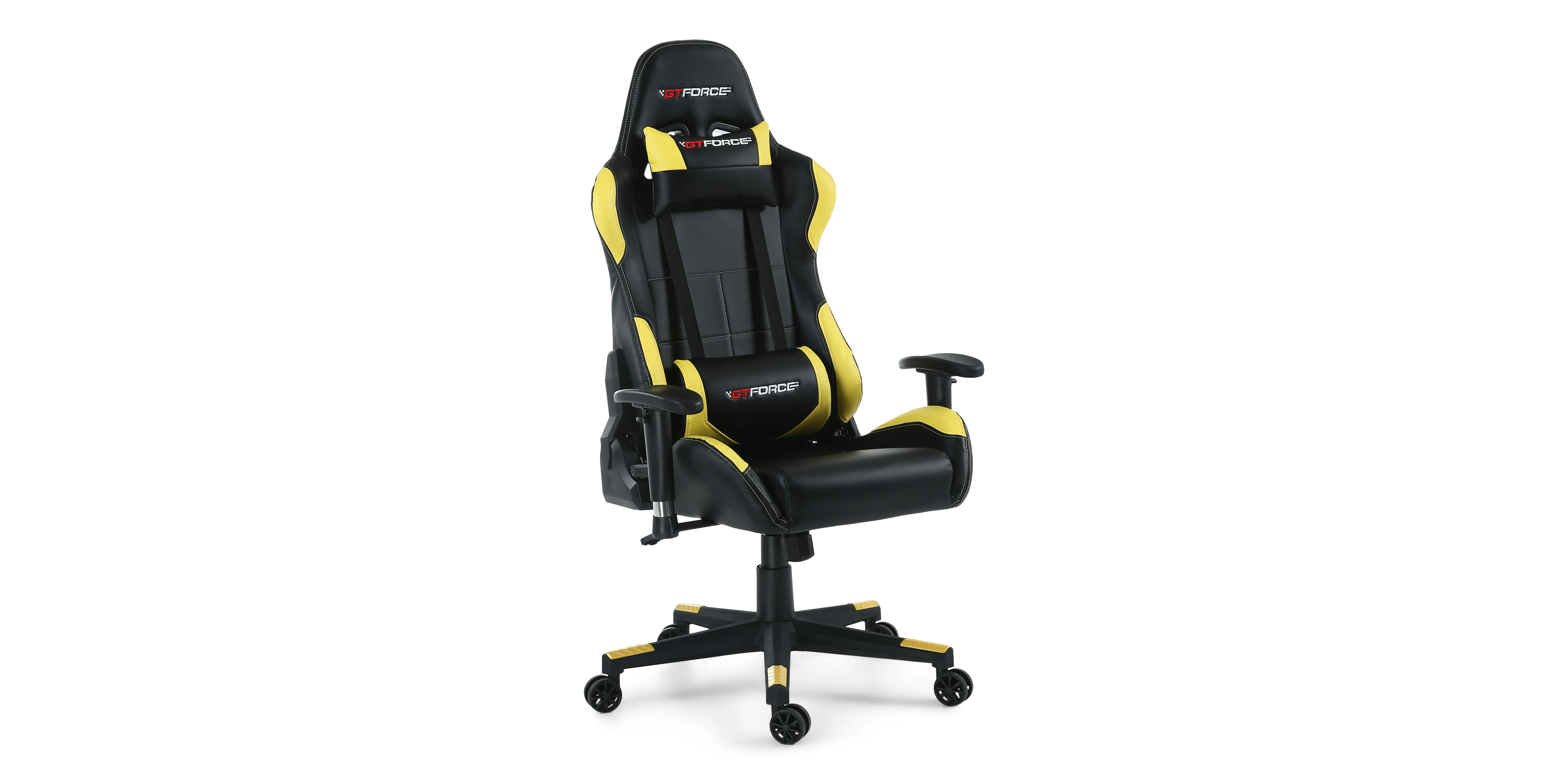 pro gaming chairs uk posture guidance chair gtforce bx with recline in black yellow