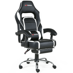 Gaming Chair With Footrest Lifetime Covers Pace Recline And In Black White