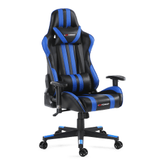 Pro Gaming Chairs Uk Ergonomic Rocking Chair Gtforce Rs With Recline In Black Blue