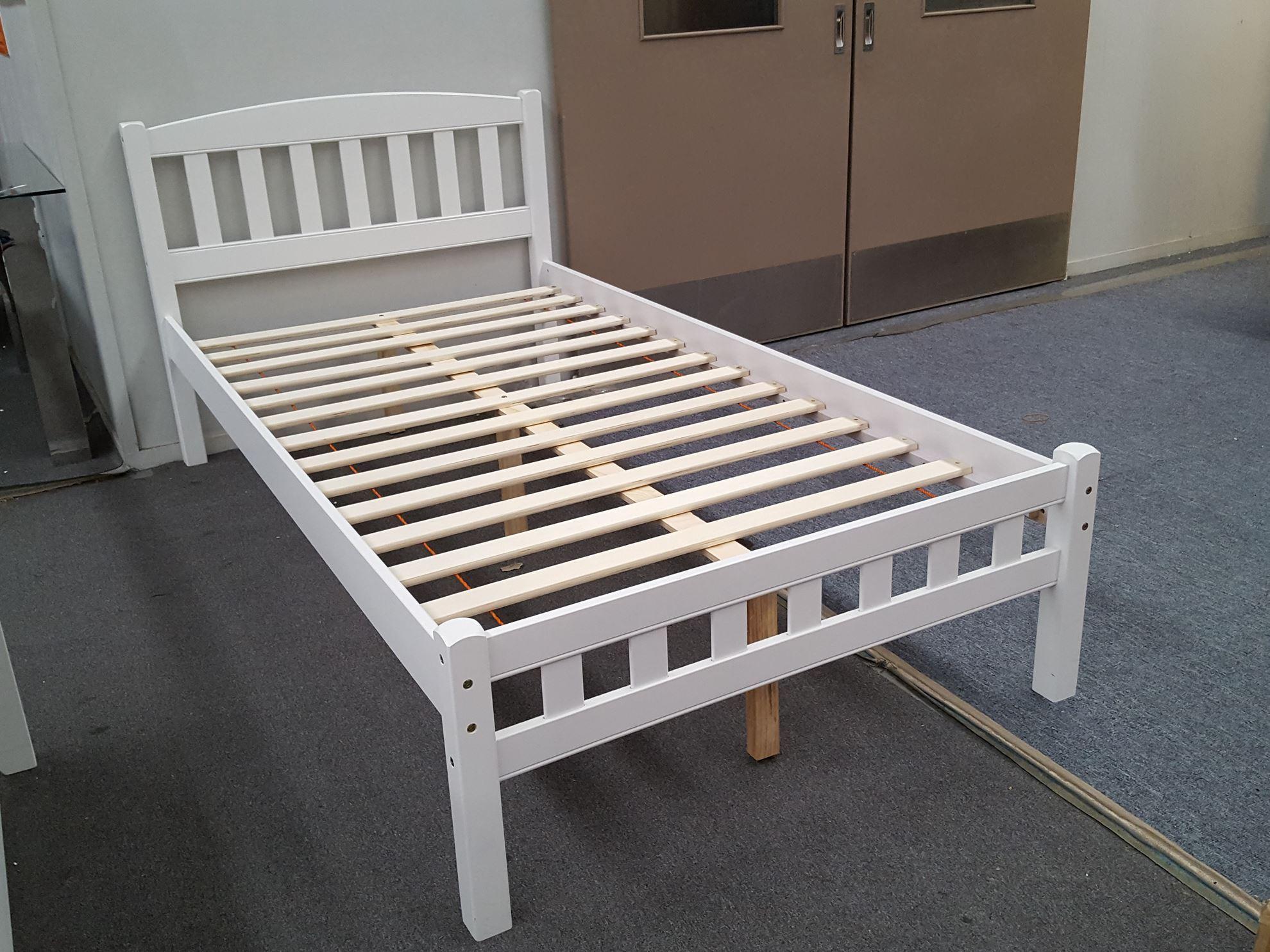 Furniture Place Zara King Single Bed in White