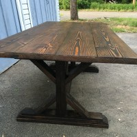 Farm Style Rustic Dining Table - Furniture Rescues