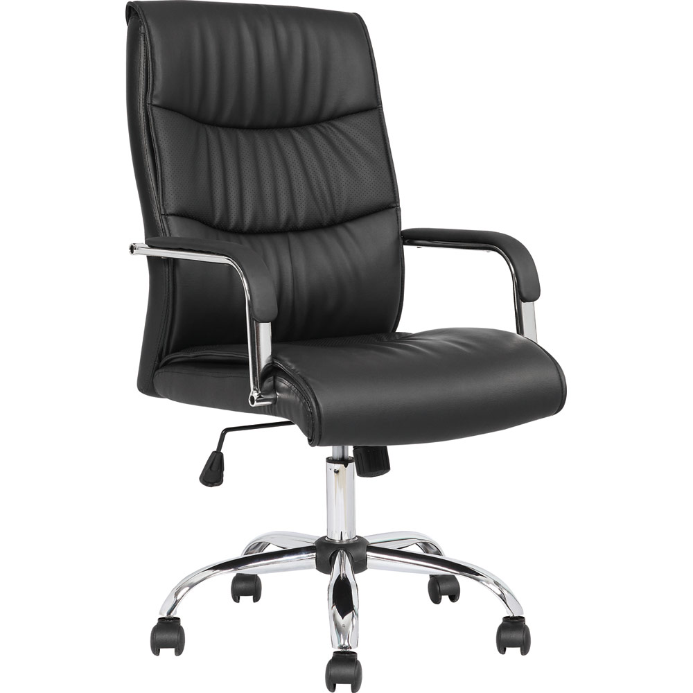 influx posture chair pedrali queen dynamic carter black luxury faux leather with arms