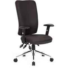 Influx Posture Chair Home Good Chairs Dynamic Chiro Task Operators Black With Arms High Back