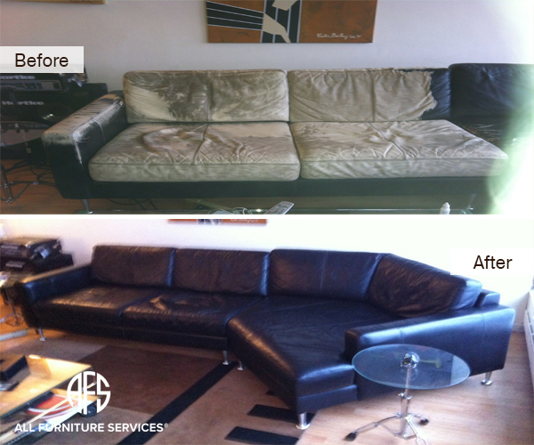 how do i repair a tear in leather sofa pottery barn buchanan sleeper review all furniture services® | & restoration ...