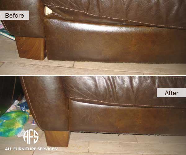 leather sofa repair nyc 3 seater standard length gallery, before after pictures   all furniture services ...