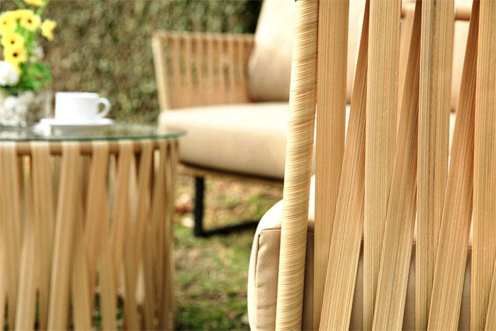 Foto Material Synthetic Rattan
