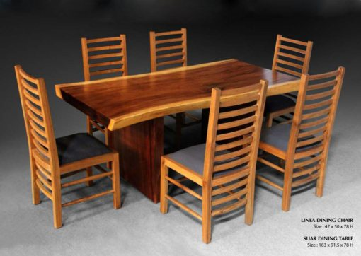 Linea Dining Chair And Suar Wood Dining Furniture Exporter