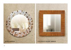 Retro Mirror And Cocoa Stick Mirror, Indonesian craft wholesale, interior craft