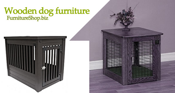 dog crates wooden furniture