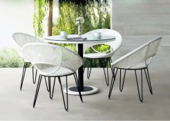 Gladys Dining Set Synthetic Rattan Furniture, Furniture for hotel, Indonesia terrace furniture