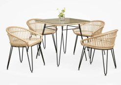 Kuga Dining Set rattan furniture, Indonesian furniture