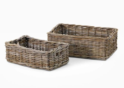 Mira Rectangle Basket Kubu Set Of 2