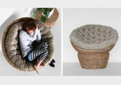 Papasan rattan Chair, lazy chair, Indonesia rattan