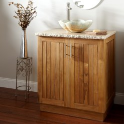 Teak Bathroom Furniture Witgh Vanity Vessel