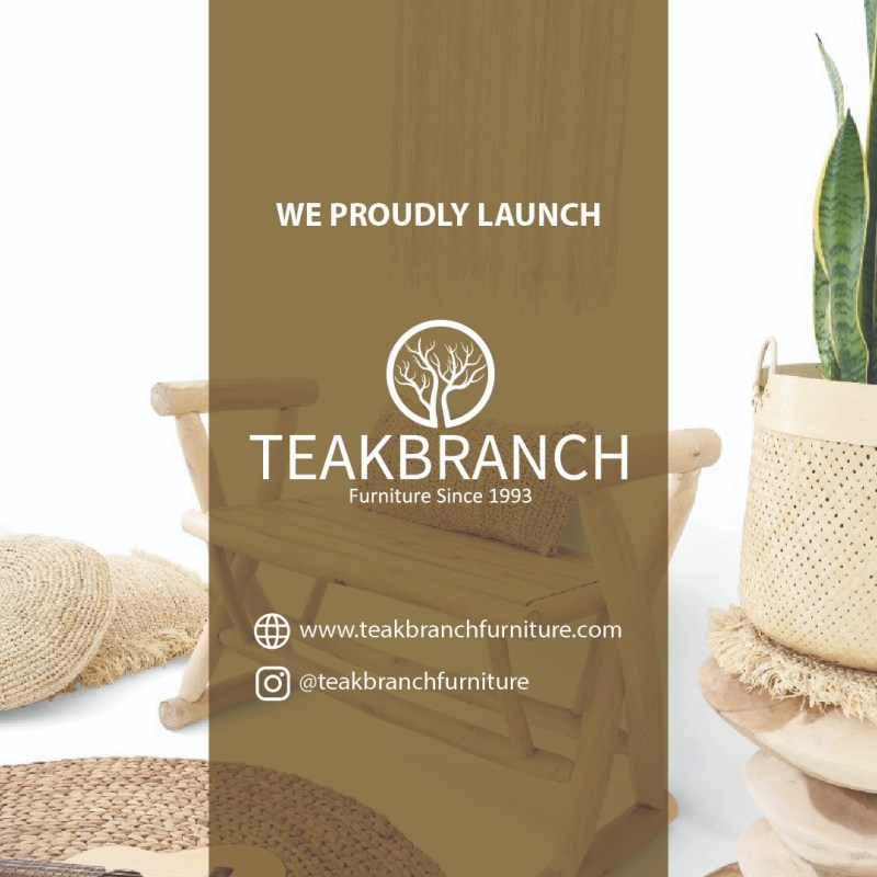 Lunching Furniture Products 2021 Indonesia Teak Branch Furniture