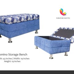 Storage Box Chair Philippines Restoration Hardware Wingback Bench Stool And Ottoman Furniture Shop Ph