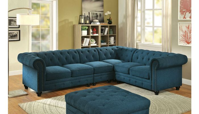 bernadette tufted scroll arm chesterfield sectional