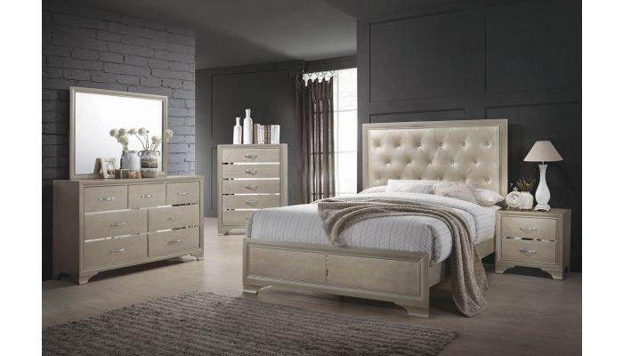 Camelia Bedroom Furniture Champagne Finish