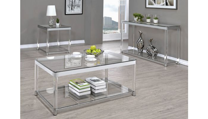 nicson modern glass coffee table